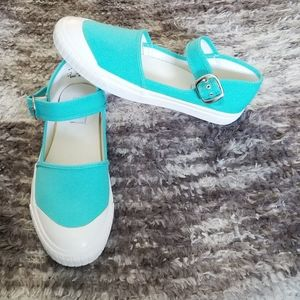Keds Turquoise Ankle Strap Flats Size 7.5